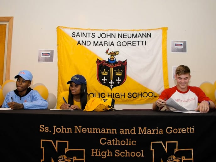 Signing Day at Neumann Goretti High School